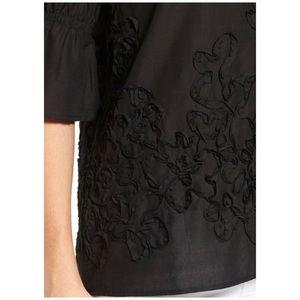Pleione Tops - Pleione Black Cotton Top Bell Sleeve Size Medium